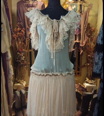 Vestido vintage sepia